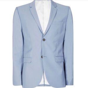 Blue Skinny Suit Jacket Men's Topman